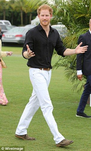 Prince Harry hits the polo field for a charity match after he touched down in Florida | Daily Mail Online