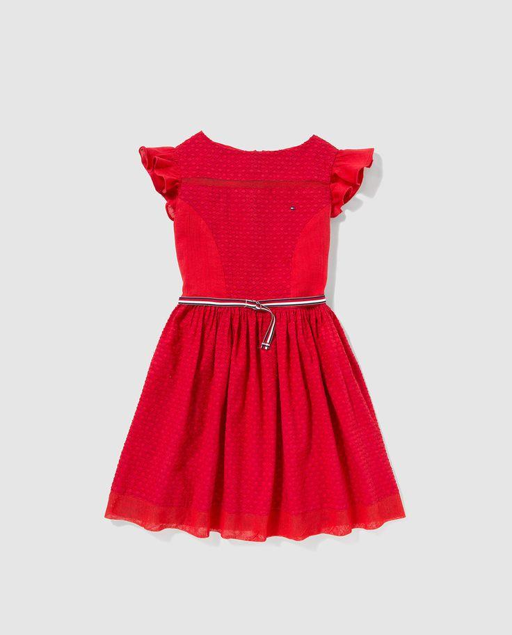 comprar tommy hilfiger online, Tommy Hilfiger Vestido de bebé niña en rojo Infantil, comprar ropa tommy hilfiger online venta en linea
