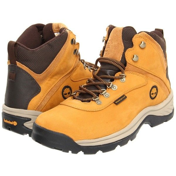 Timberland White Ledge Mid Waterproof (Wheat) Men's Hiking Boots (7.190 RUB) ❤ liked on Polyvore featuring men's fashion, men's shoes, men's boots, mens waterproof leather boots, mens white boots, mens leather boots, timberland mens boots and mens narrow hiking boots