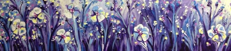 Purple Haze Floral Semi Abstract Painting By artist joJo spook