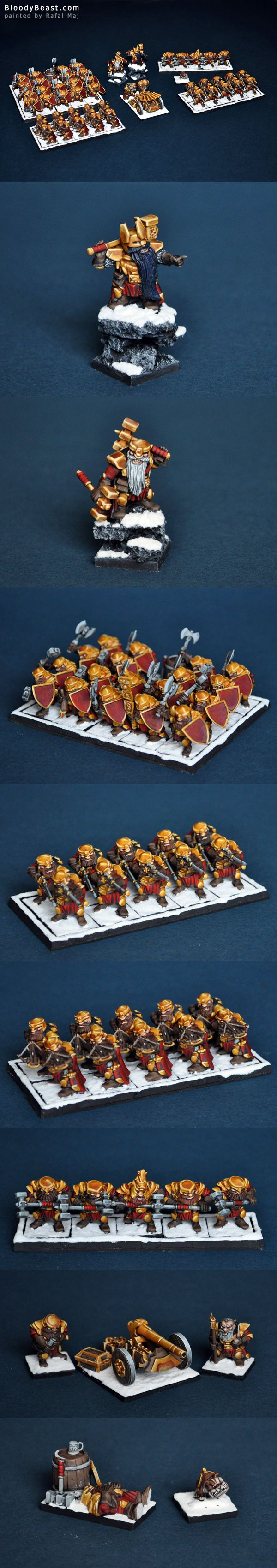 Dwarf Army for Kings of War (Mantic Games)