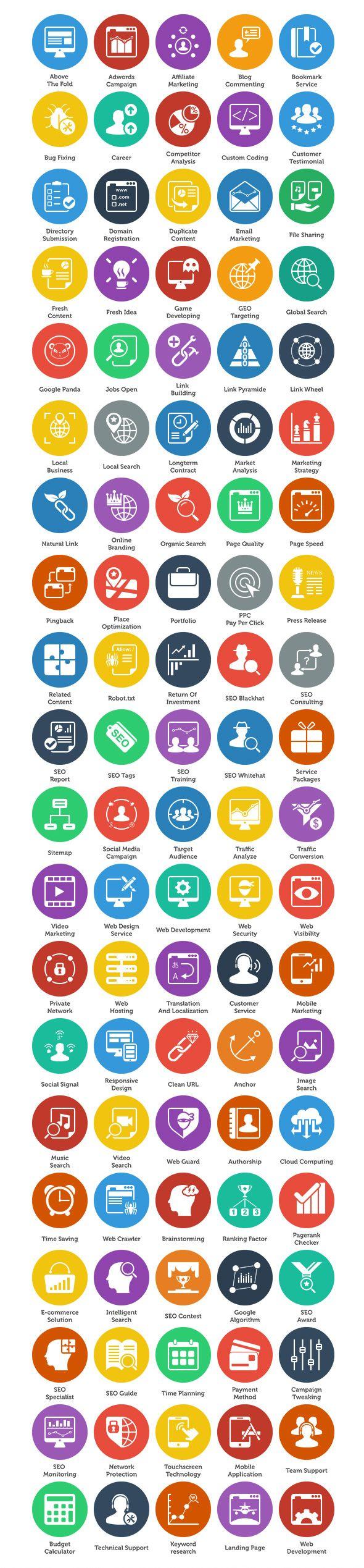 100 Free SEO Icons