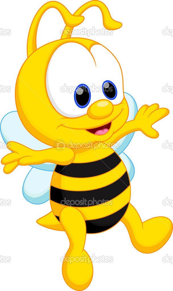 Caricatura lindo bebé abeja — Vector stock © irwanjos2 #45254409