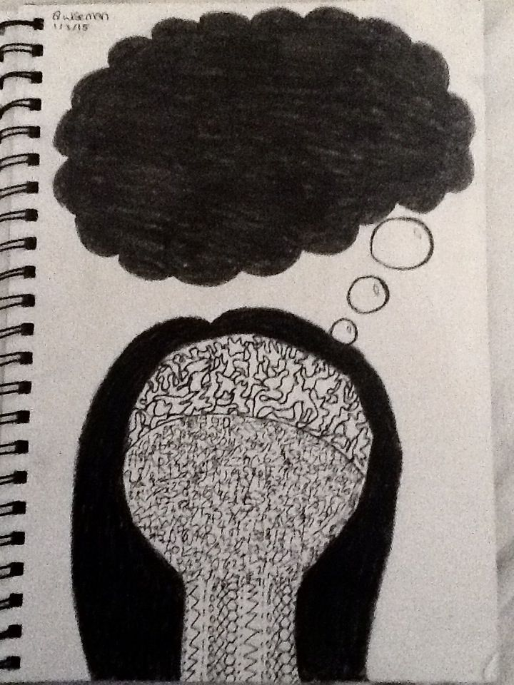A person stuck in their thoughts