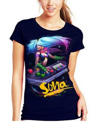 LOL League of Legends Sona t shirt for women short sleeve