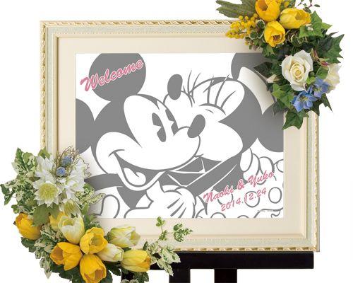 【楽天市場】【Disney】ディズニー ミッキー&ミニー 結婚式 ウェルカムボード ウェディングツリー (Kissマーク):結婚式グッズFantastic Wedding