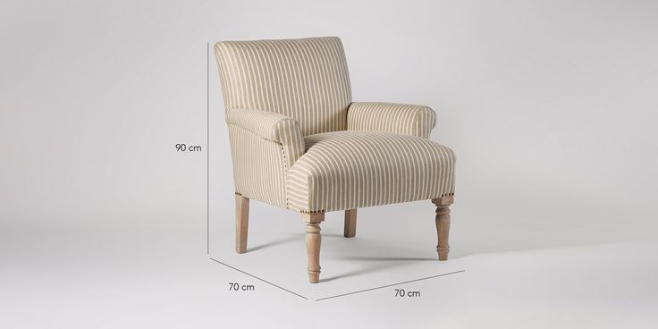 Swoon Editions Armchair, Modern Country style in Striped Rye - £349