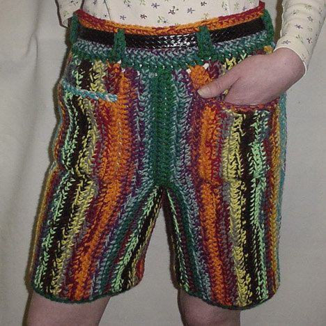 Elephant Boxers Knitting Pattern : Crocheted Shorts By Spooner 1179 by TheSecurityBlanketCo on Etsy Crochet Fo...