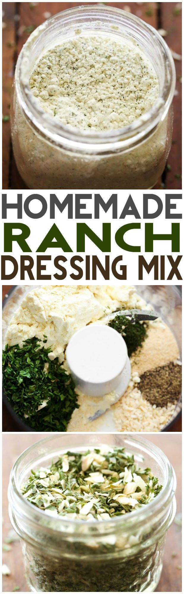 Homemade Ranch Dressing Mix... this is SO simple, so easy to make and is GREAT to have on hand! It tastes so much better homemade!