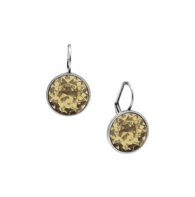 E2642 - Golden shadow Swarovski crystal drop earrings