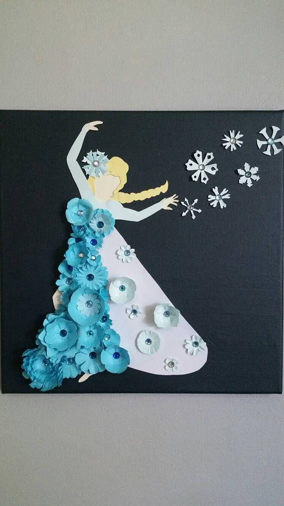 Colección de fantasía: Princesa de hielo de flor de papel