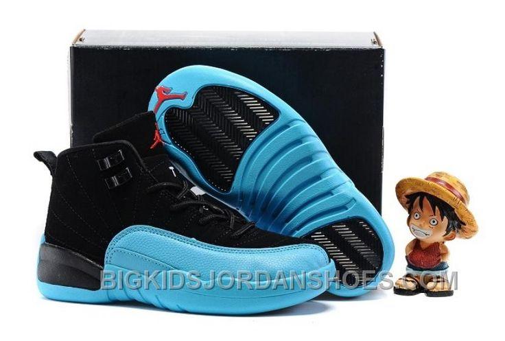 "http://www.bigkidsjordanshoes.com/2017-kids-air-jordan-12-gamma-blue-basketball-shoes-online.html 2017 KIDS AIR JORDAN 12 ""GAMMA BLUE"" BASKETBALL SHOES DISCOUNT Only $85.00 , Free Shipping!"