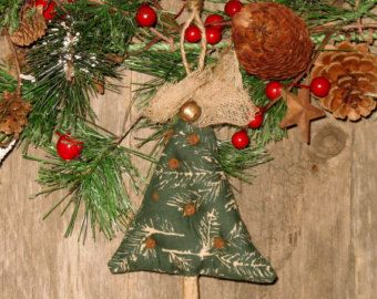 Primitive Christmas Tree Ornament Rusty by HomespunBlessingsOCS
