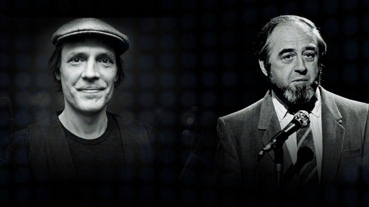 Montage photo noir et blanc de Daniel Bélanger, Jean Leloup et Raymond Lévesque.