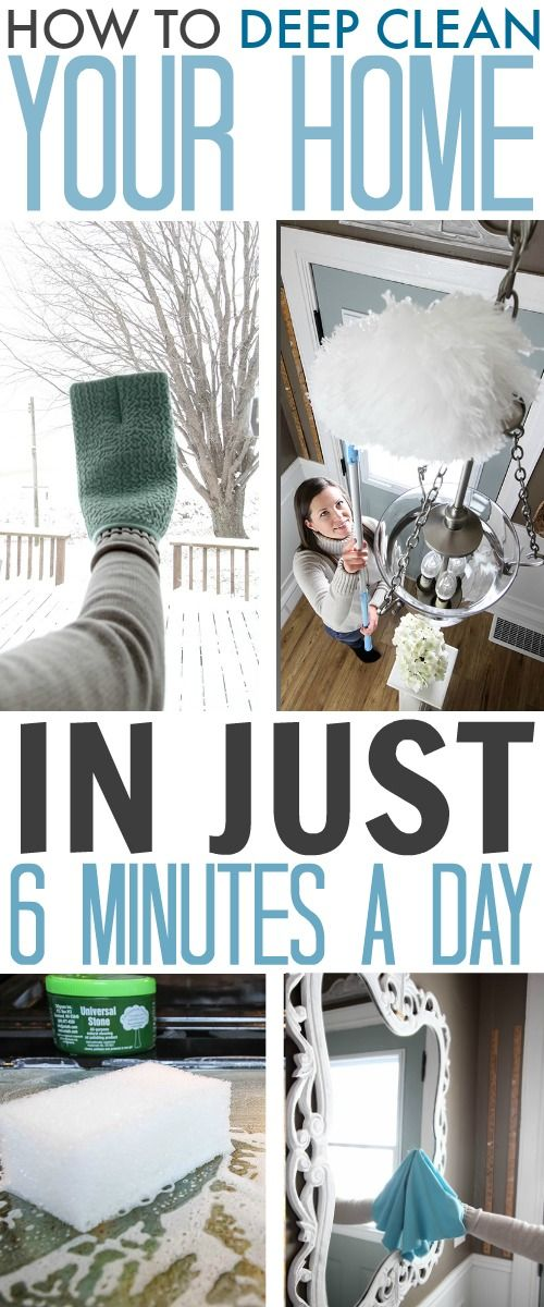 How to deep clean your home in just 6 minutes a day!