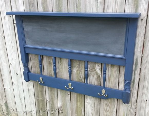 headboard chalkboard coat rack - My Repurposed Life™