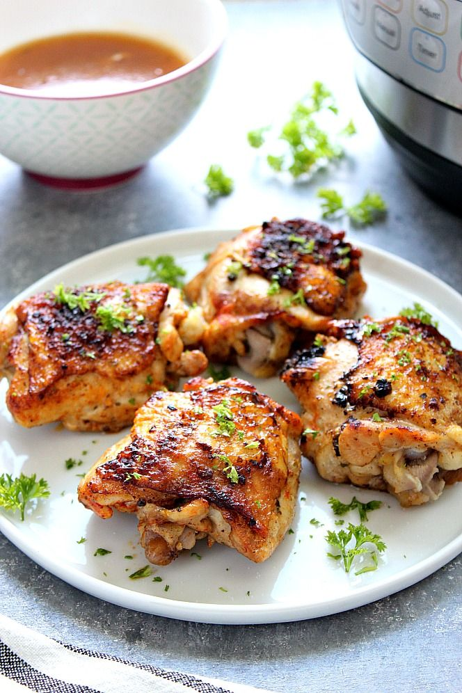 Instant Pot Chicken Thighs Recipe – the best and easy way to cook bone-in and sk…