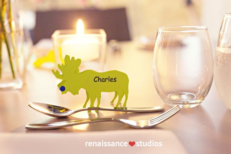Name Seating Cards - Canadian Moose! http://www.fusion-events.ca/