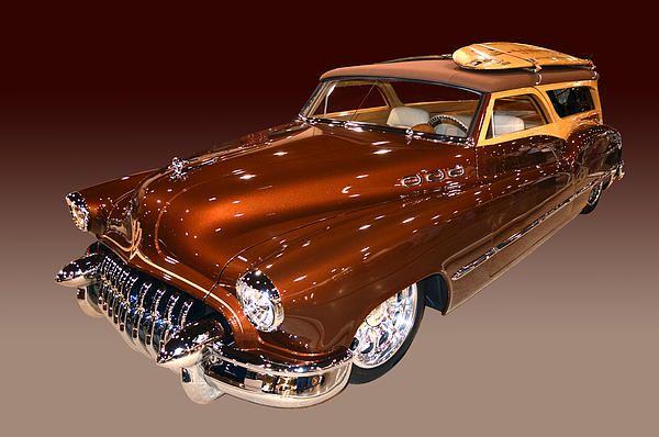 Cinnamon metallic 1950 Buick Woody Wagon ready for the