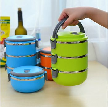 Homio Double Layer Stainless Steel Children Lunch Box 1.4L Keep Warm Food Container For Kids $14,56 (free shipping)