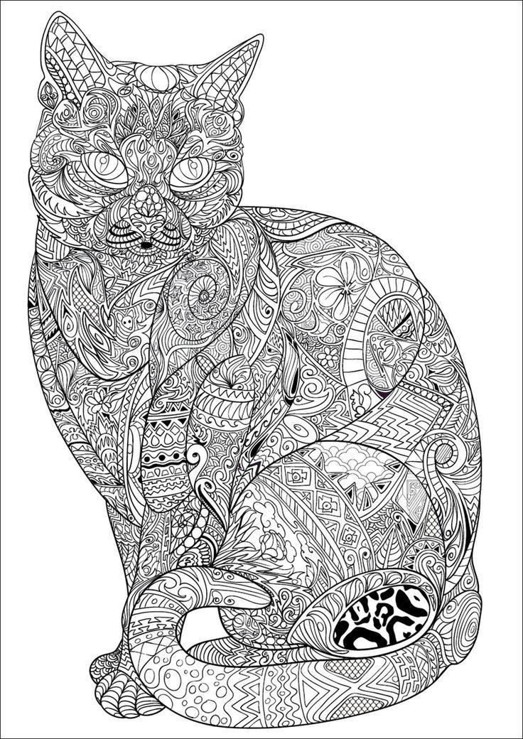 Best 25 cat mandala ideas on pinterest adult coloring - Coloriage a imprimer mandala ...