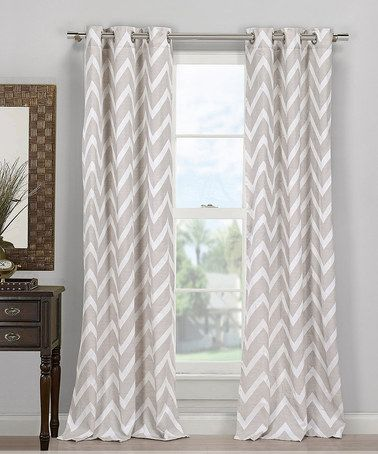 Gray Behrakis Chevron Curtain   Set Of Two #zulilyfinds