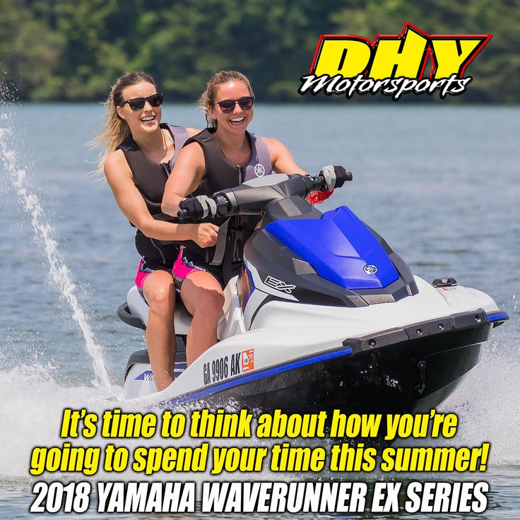 Why not turn up the fun on your summer! Now is the time to look at the affordable 2018 #Yamaha #Waverunner #EX at #DHYMotorsports