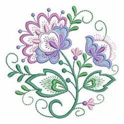 Jacobean Floral Circle 9 - 4x4 | What's New | Machine Embroidery Designs | SWAKembroidery.com Ace Points Embroidery