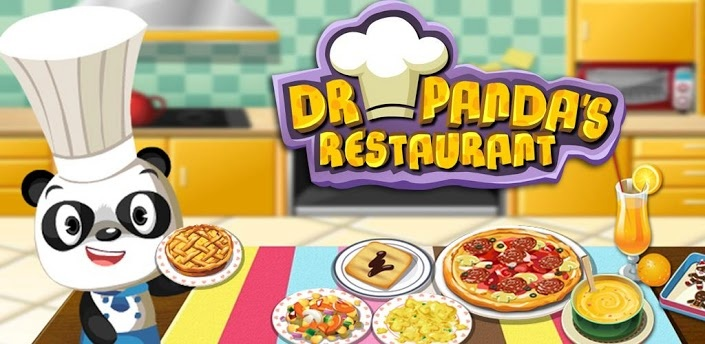 Dr Panda's Restaurant - Cooking App For Kids! The recipe book contains 10 different dishes kids can cook for animal friends.. and then wash the dishes to make the guests feel happy! For iPhone and Android!