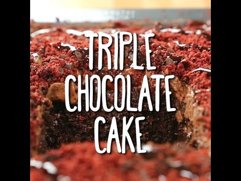 Triple Chocolate Cake! Do we need to say any more? A very delicious dessert that's a sure keeper!