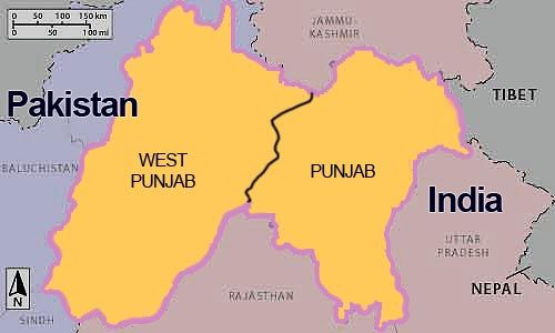 The Sikhs home land which was partitioned between Hindus and Muslims ,including Jammu and Kashmir