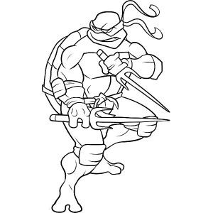 Sai is Raphael Weapon of Choice Coloring Page Free