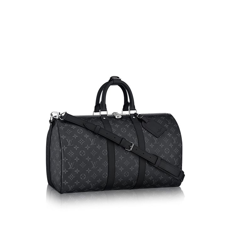 Keepall 45 Bandoulière Monogram Eclipse in Men's Travel  collections by Louis Vuitton