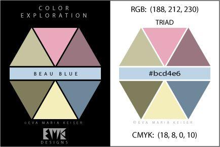 """Eva Maria Keiser Designs: Explore Color: """"Beau Blue"""" - Triad"""