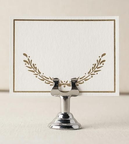 Wreath Foil-Stamped Place Cards, Set of 30 by Smock on Scoutmob Shoppe