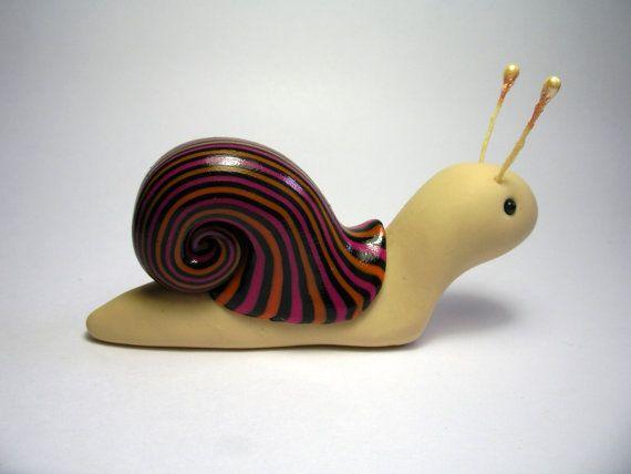 Cute polymer clay snail on Etsy!!