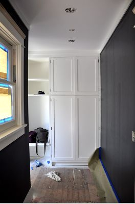 1920s bungalow renovation mudroom benjamin moore deep for Deep space benjamin moore