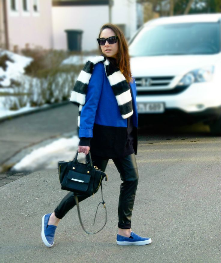 Zara flats,royal blue