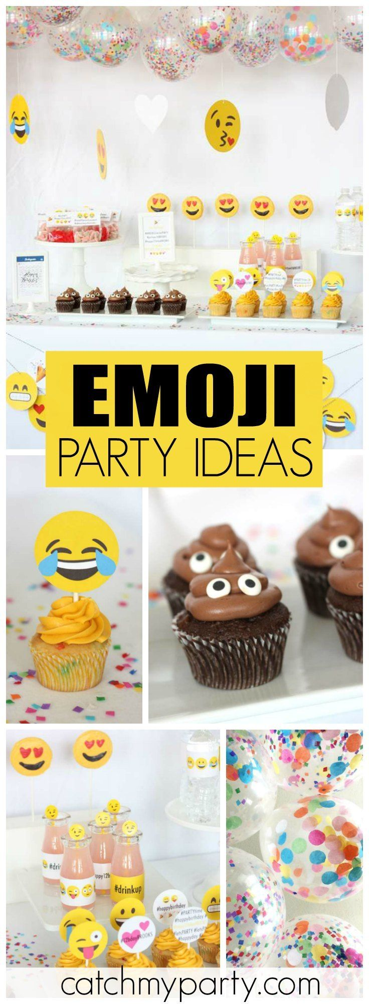 How cool is this emoji Instagram girl birthday party?! See more party ideas at CatchMyParty.com!