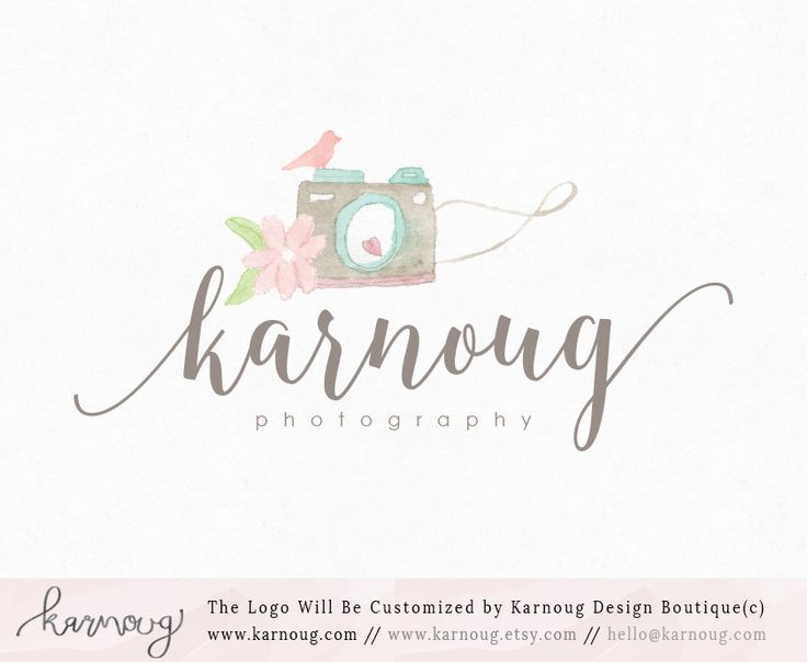 OOAK-Hand Painted|Watercolor Logo|Camera Logo|Premade Logo|Boutique Logo|Photography Logo|Florist Logo|Soap Logo|Spa Logo|Beauty Logo|Logos by karnoug on Etsy