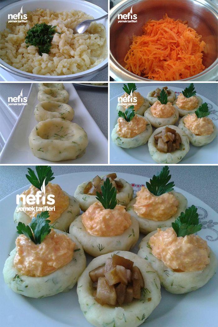 Patatesli Ve Havuçlu Süslü Salata