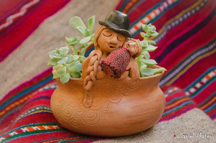 Maceta escultorica Raices de Kecheu