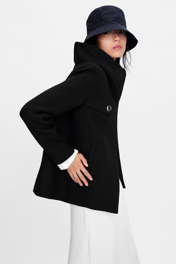 Mantel mit schalkragen zara