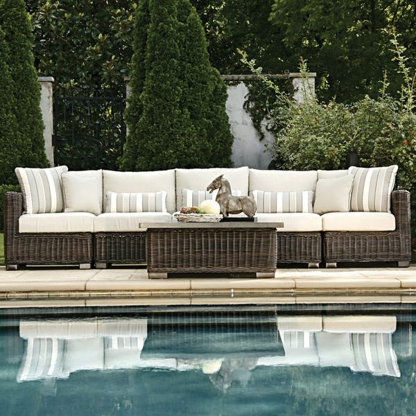 Rustic Woven Sectional Patio Furniture By Summer Classics