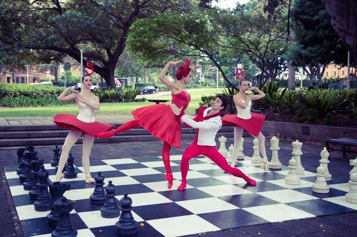 Jacqueline Clark, Valerie Tereshchenko, Jake Mangakahia and Sharni Spencer for Alice's Adventures in Wonderland©. Photography Daniel Boud