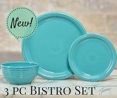 Hello, Bistro!  Introducing the Fiesta Dinnerware 3pc Bistro Set