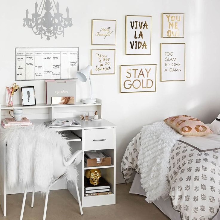 Dont worry about finding bedroom ideas you can shop our fully decorated dorm room sets and bedroom sets in just one click