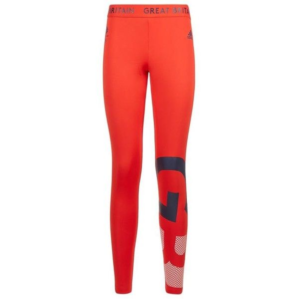 Adidas Originals Team GB Leggings ($52) ❤ liked on Polyvore featuring activewear, activewear pants, adidas originals and logo sportswear
