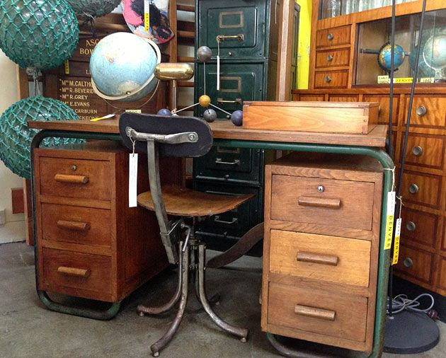 Industrial furniture, desk, chair, Mark Denver, Brunswick, Melbourne. - 21 Best Vintage Shops Victoria Images On Pinterest Victoria