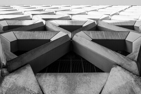 #carpark at #welbeckstreet in #london #concrete #symmetry #structure #triangle